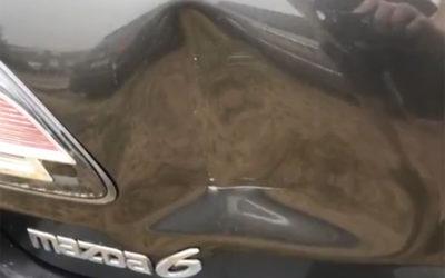 Mazda 6 Dented Tailgate Repair