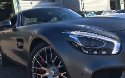 Mercedes GTS repaired and painted