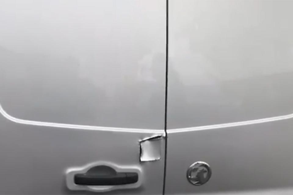 Vauxhall Vivaro Van Door Damage Paint and Replace