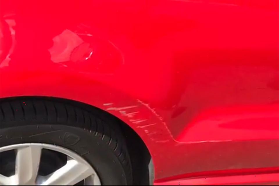 VW Polo rear quarter damage repair