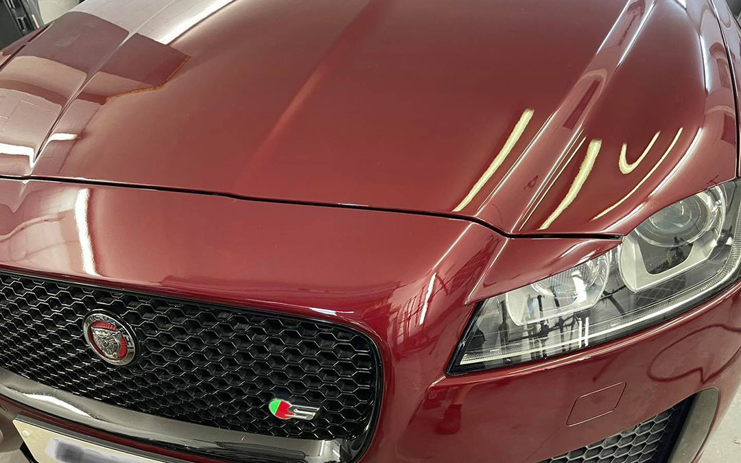 Jaguar XF-S repaired, painted & looking as good as new